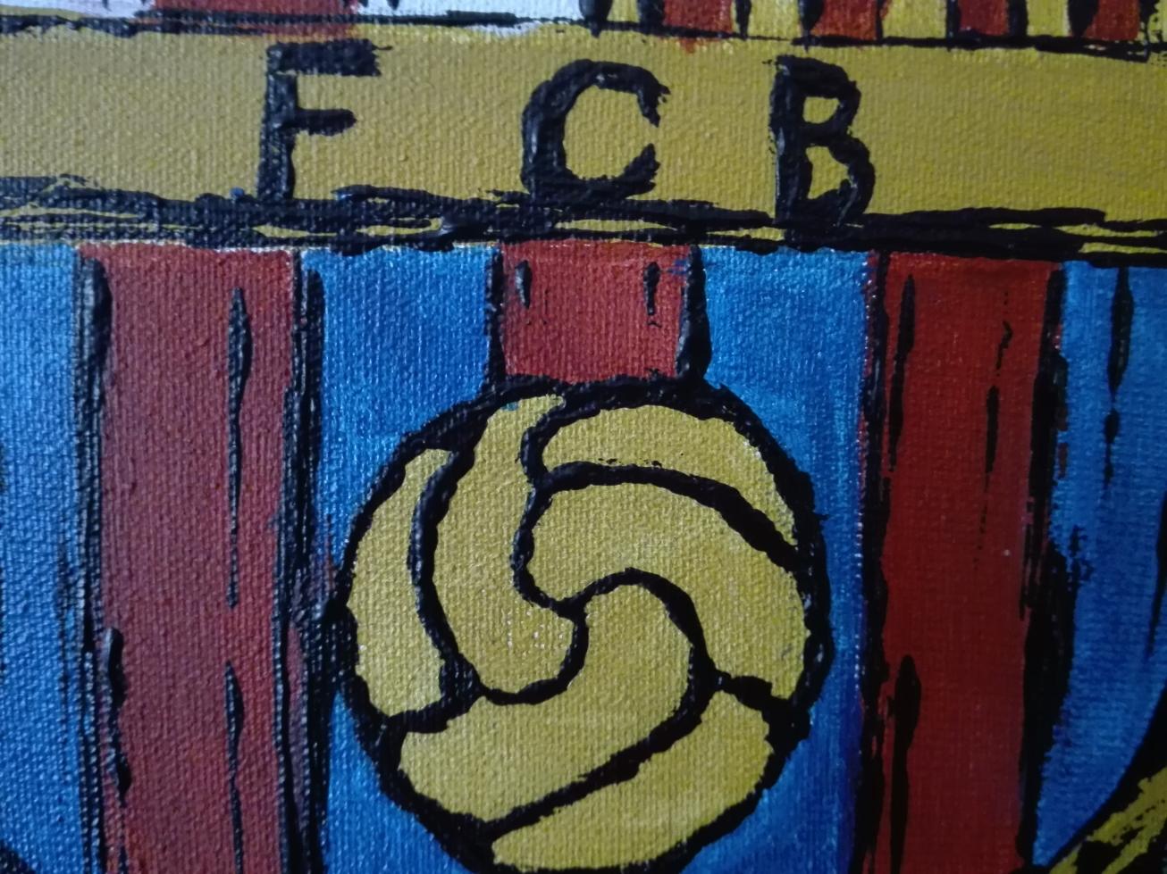 fc barcelona veb akryl obraz eeve