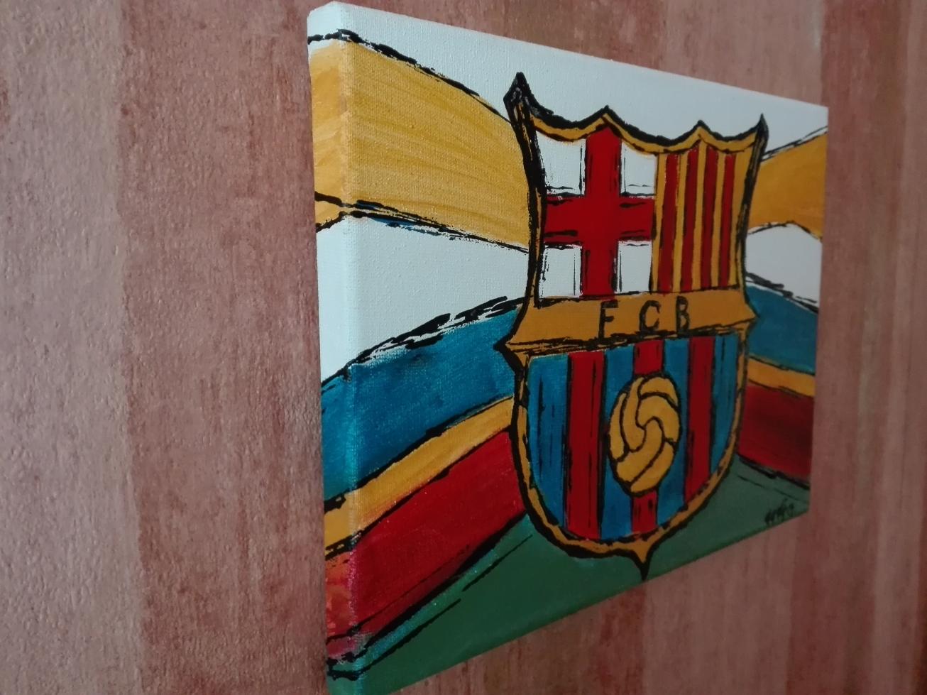 fc barcelona akryl obraz eeve